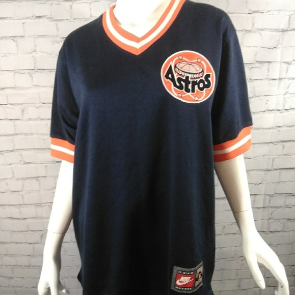 quality design 00185 0d34a ⚾ Navy Blue Throwback Astros Jersey
